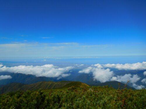富山平野と能登半島