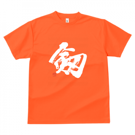 「剱」筆文字Tシャツ ドライ素材 色種類沢山あり