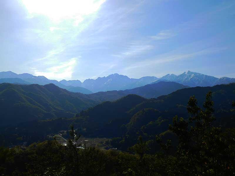 富山の低山 ハゲ山からの剱岳 富山の書道家藤井碧峰