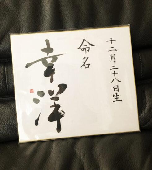 【ご出産祝に】書道家の書く命名書・色紙版