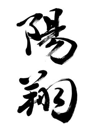 「陽翔」書道家の書く2019年の赤ちゃんの人気の名前